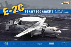 Kinetic Models 1/48 E2C US Navy/French AF Early Warning Aircraft, LIST PRICE $94.95