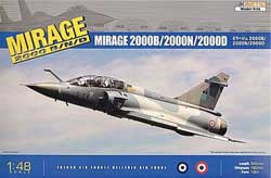 Kinetic Models 1/48 Mirage 2000D/N Multip-Role Attack Bomber, NT, LIST PRICE $64.95
