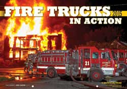 Motorbooks Int Voyaguer Press RR Books Fire Trucks in Action Calendar 17x12 format, LIST PRICE $15.99