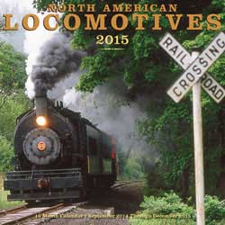 Motorbooks Int Voyaguer Press RR Books North American Locomotives Calendar 12x12 format, LIST PRICE $14.99