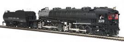 MTH HO Mikes Train House HO 4-8-8-2 AC6 Cab Forward w/PS3, SP Lines #4129, DUE 8/30/2018, LIST PRICE $599.95