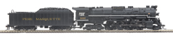 MTH HO Mikes Train House HO 2-8-1 N-1 PM Brksh 1222, DUE 12/15/2019, LIST PRICE $499.99