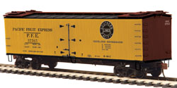 MTH HO Mikes Train House HO R40-2 Wood Reefer, PFE #37565, DUE 1/20/2018, LIST PRICE $34.95