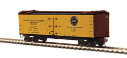 MTH HO Mikes Train House HO R40-2 Wood Reefer, PFE #37569, DUE 1/20/2018, LIST PRICE $34.95