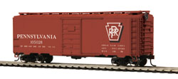 MTH HO Mikes Train House HO 40' PS-1 Box, PRR #105028, DUE 2/28/2018, LIST PRICE $24.99