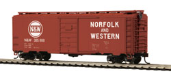 MTH HO Mikes Train House HO 40' PS-1 Box, N&W #385888, DUE 2/28/2018, LIST PRICE $24.99