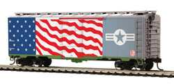 MTH HO Mikes Train House HO 40'PS-1 Box KCS Air-Force, DUE 10/15/2019, LIST PRICE $26.99
