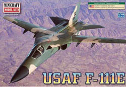 Mini Craft 1/144 F-111 Aardvark USAF w/2 Marking Options, LIST PRICE $14