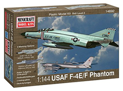 Mini Craft 1/144 F-4E Phantom ADC/RAF with 2 Marking Options, LIST PRICE $14
