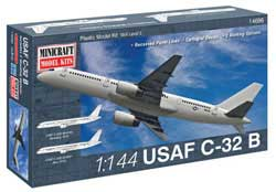 Mini Craft 1/144 C-32B USAF /C-32A RNZAF (B757), LIST PRICE $35