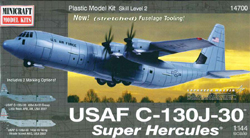 Mini Craft 1/144 C-130J-30 Super Hercules USAF w/2 marking NT, LIST PRICE $44.99