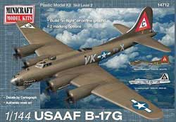 "Mini Craft 1/144 B-17G USAAF ""Mercy's Madhouse"" w/2 marking, LIST PRICE $18.99"