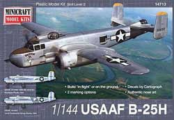 Mini Craft 1/144 B-25H USAAF w/2 marking options, LIST PRICE $14.99