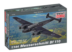 Mini Craft 1/144 Bf-110 Messerschmidt, LIST PRICE $12.99