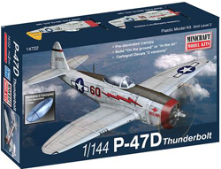 Mini Craft 1/144 P-47D Thunderbolt, LIST PRICE $12.99