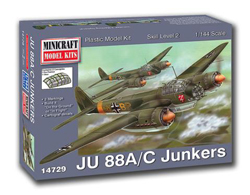 Mini Craft 1/144 JU-88 A/C Junkers, LIST PRICE $14.99