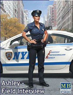 MASTER BOX Ashley Modern Police Woman :24, LIST PRICE $14.95