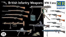 MASTER BOX British Shooting Weapons 1:35, LIST PRICE $14.5
