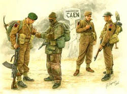 MASTER BOX BRITISH COMMANDOS CAEN 1944   , LIST PRICE $11.5
