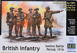 MASTER BOX Brit Infantry Somme Battle :35, LIST PRICE $19.95