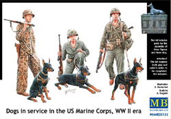 MASTER BOX DOGS in The MARINE CORPS 1:35, LIST PRICE $19.45