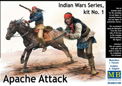 MASTER BOX Apache Indians w/rifles 1:35, LIST PRICE $19.95