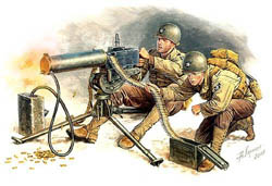 MASTER BOX 1:35 U.S. Machine Gun (Browning M1917A1) w/Gunner, LIST PRICE $14.5