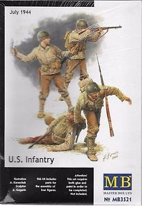 MASTER BOX 1:35 U.S. Infantry, July 3rd, 1944 4 figures, LIST PRICE $14.5