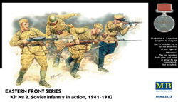 MASTER BOX 1:35 Soviet Infantry In Action, 1941-1942 Eastern, LIST PRICE $11.5