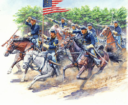 MASTER BOX 8Th Penn Cavalry Rmgt 1:35, LIST PRICE $25