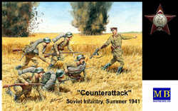 MASTER BOX COUNTERATTACK SOVIET INF 1:35 , LIST PRICE $23.95
