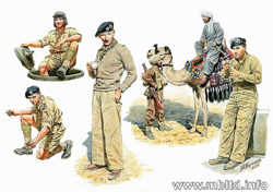 MASTER BOX BRITISH TROOPS No AFRICA 1:32 , LIST PRICE $21.95