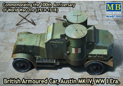 MASTER BOX British Armoured Car Mk.Iv :72, LIST PRICE $27.75