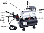 Model Expo AIRBRUSH COMPRESSOR W/tank, LIST PRICE $179.98