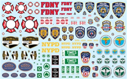 Model Kit Accessories NYC Auxiliary Service Logo Dec, LIST PRICE $12.5