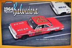 Model King '64 PLYMOUTH STOCK CAR 1:25, LIST PRICE $24