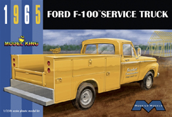 Model King 1965 Ford F-100 w/utility Box 1:25, LIST PRICE $40