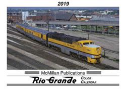 McMillan Publishing 2019 Calendar D&RGW, LIST PRICE $15.95