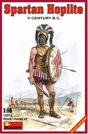 MINI ART MODELS 1:16 Spartan Hoplite V Century B.C. Figures, LIST PRICE $22.5