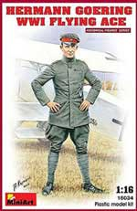 MINI ART MODELS HERMAB GOERING FLYING ACE 1:16, LIST PRICE $29