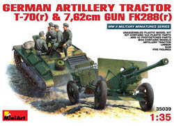 MINI ART MODELS 1/35 Germ Artillery TractorT-70 & 7.62cm FK288, LIST PRICE $72.95