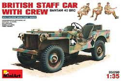 MINI ART MODELS BRITISH STAFF CAR W/crew 1:35 , LIST PRICE $35.45