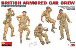 MINI ART MODELS BRITISH ARMORED CAR CREW 1:35, LIST PRICE $17.25
