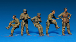 MINI ART MODELS BRITISH TANK CREW 1:35, LIST PRICE $17.25