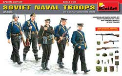 MINI ART MODELS SOVIET NAVAL TROOPS 1:35, LIST PRICE $18.75
