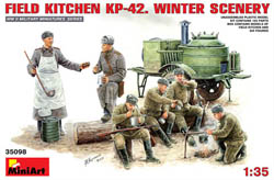 MINI ART MODELS FIELD KITCHEN KP-42 WINTER :35, LIST PRICE $38.25