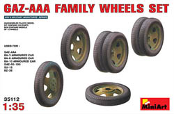 MINI ART MODELS GAZ-AAA FAMILY WHEELS SET 1:35, LIST PRICE $28.25
