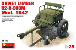 MINI ART MODELS SOVIET LIMBER 52-R-353M 1:35 , LIST PRICE $28.25