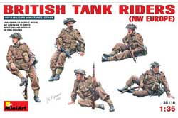 MINI ART MODELS British Tank Riders 1:35, LIST PRICE $22