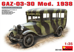 MINI ART MODELS GaZ-03-30 Mod 1938 1:35, LIST PRICE $65.5